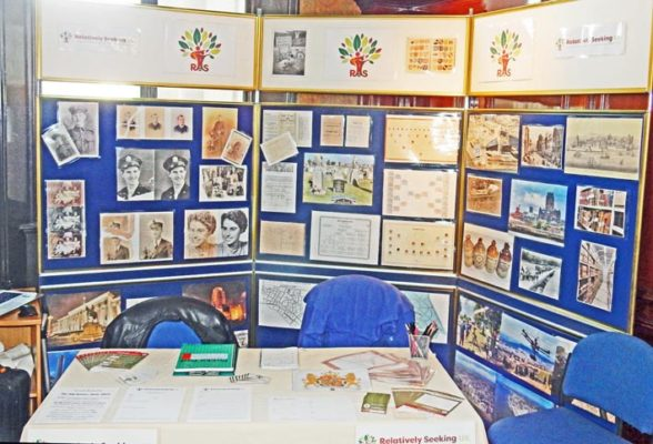 Relatively Seeking UK's Exhibition stand at the Wirral History Fair.